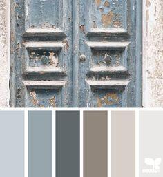 a door tones (design seeds) Room Colors, Wall Colors, House Colors, Paint Colors, Design Seeds, Paint Schemes, Colour Schemes, Color Palate, Kitchen Colors