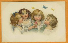 Susan Beatrice PEARSE - Girls w BUTTERFLY