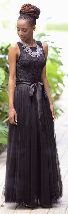 Chicwish Black Multi Layered Tulle Maxi Skirt by Shades n Styles