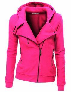 Pink Warm Fleece Zip-Up Hoodie | Fashionista Tribe