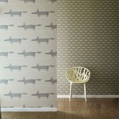 Scion - Designer Fabric and Wallpapers | Products | Little Fox (NSWA110839) | Spirit & Soul Wallpapers