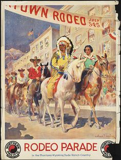 Rodeo Parade. In the Montana-Wyoming dude ranch country by Boston Public Library, via Flickr
