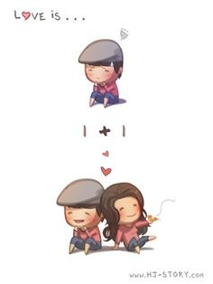 Love is.. ♥+♥=us