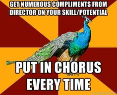 This is my school theatre life minus the compliments! Doing theatre outside of school is so much better!