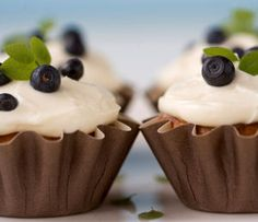 Mustikka-cupcakes