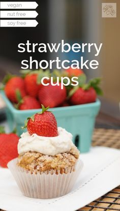Sarah made strawberry shortcake cups, you guys!  via @frieddandelions
