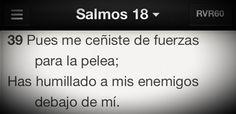 Dios da la Victoria con poder y haciéndonos brillar más que los enemigos, no humilla por fuerza #Promesa Salmo 18:39