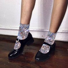 Who is willing to party this weekend? Diamond Glitter, Sparkles Glitter, Glitter Flats, Glitter Photography, Glitz And Glam, Grunge, Diamond Are A Girls Best Friend, Sock Shoes, New Shoes