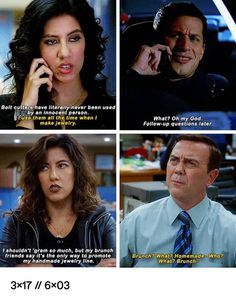 My favorite thing about Rosa is she can say any outrageous thing and you can bel… - Fashion City Brooklyn Nine Nine Funny, Brooklyn 9 9, Parks N Rec, Parks And Recreation, Netflix, Comic, Rookie Blue, Memes, The Funny