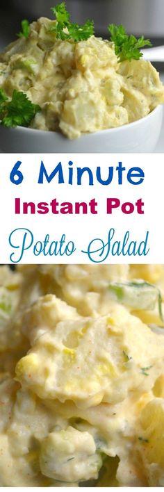 6 Minute Instant Pot Potato Salad