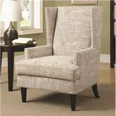 Accent Seating Wing Chair with Transitional Style