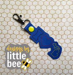 Michigan LOVE! for football or university team spirit home state key fob snap tab keychain embroidery design Instant Download