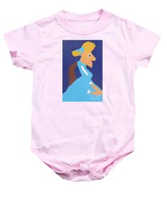 Patrick Francis Pink Designer Baby Onesie featuring the painting Portrait Of Adeline Ravoux 2014 - After Vincent Van Gogh by Patrick Francis