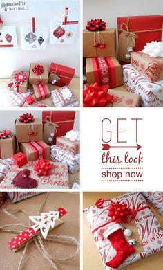 Scandinavian Christmas Gift Wrap Inspiration