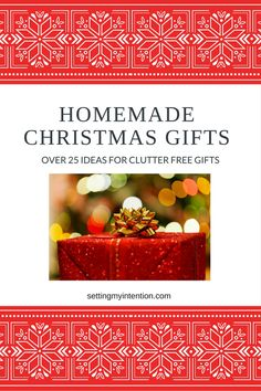 Are you looking for some ideas about how to celebrate the holidays in a more meaningful way? Here are over 25 ideas for experience focused and homemade Christmas gifts. Christmas Gift Sets, Homemade Christmas Gifts, Homemade Gifts, Christmas Cookies, Diy Gifts, Christmas Diy, Christmas Decorations, Magical Christmas, Simple Christmas