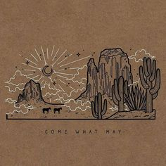 Ideas For Black And White Line Art Doodles Art And Illustration, Illustration Cactus, Mountain Illustration, Wall Collage, Wall Art, Cowboy Art, Grafik Design, Line Art, Art Inspo