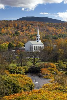 Fall in Stowe, Vermont Stowe,where the Trapp Family Lodge is located..it exciting to see and visit!