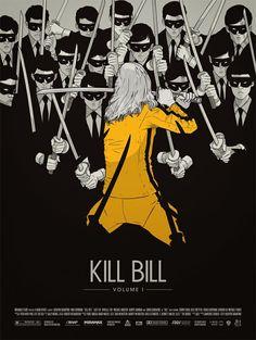 Kill Bill Vol 1 by Gianmarco Magnani. Cores e traços reforçando a tensão do filme. | Veja mais sobre Kill Bill em http://cantodosclassicos.com