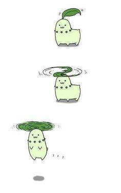 Awww! =D #pokemon #cute #chikorita