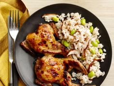 Grilled Quail With Miso recipe from Food Network Kitchen via Food Network