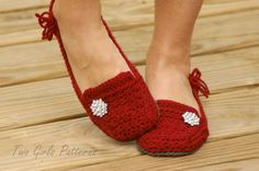 Lovely Lady Loafers - New from TwoGirlsPatterns! Oh my gosh...these are GORGEOUS!