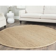 Safavieh Hand-loomed Sisal Style Natural Jute Rug (7' x 7' Round) | Overstock.com
