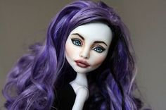 Angelina a OOAK Monster High Spectra Vondergeist Repaint inspired  by Angelina Jolie
