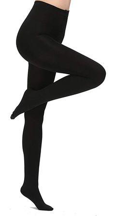 f5a3e75d3062e Aphro Women s Opaque Warm Tights Fleece Lining Pantyhose