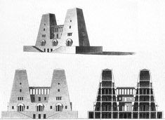 Claude-Nicolas Ledoux, A Second Country House Architecture Ombre, Hotel Design Architecture, Conceptual Architecture, French Architecture, Architecture Drawings, Classical Architecture, Historical Architecture, Contemporary Architecture, Louis Kahn