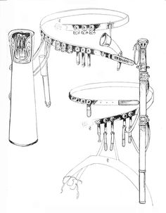 Reconstruction of Avar gear, cca 8th century AD.