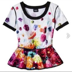 Chic preplum top Like new very chic and colorful top! One of my FAVORITES designer! Absolutely stunning! Prabal Gurung Tops