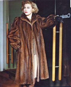 classic mink fur coat