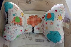 Infant/toddler car seat/stroller butterfly head support pillow-elephant scenic