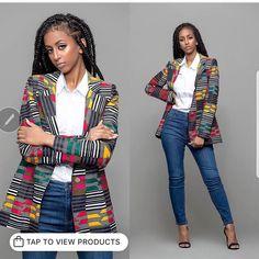 Latest Trendy Ankara Jackets And Blazers Styles African Fashion Ankara, African Inspired Fashion, African Print Dresses, African Print Fashion, Africa Fashion, African Dress, African Prints, African Attire, African Wear