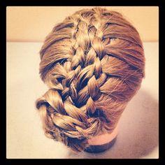 8 strand braid into bun!