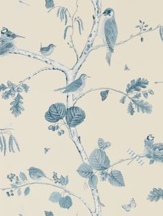 Woodland Chorus Indigo wallpaper by Sanderson