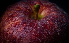 Red apple close up by Marius Comanescu on @creativemarket  #apple #fresh #food #fruit #closeup