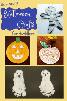 not at all scary halloween crafts for toddlers