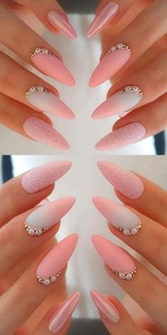 Simple Gel Nails, French Tip Gel Nails, Short Gel Nails, Sparkle Gel Nails, Rose Gold Nails, White Gold Nails, Toe Nail Color, Gel Nail Colors, Spring Nail Colors