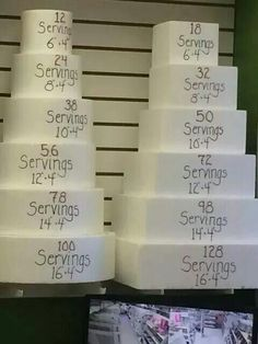 Serving sizes presented for customers