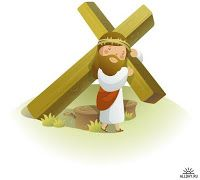 Jesus Christ carrying a crucifix on his shoulders , Spiritual Religion, Religion Catolica, Bible Stories For Kids, Bible Study For Kids, Jesus Cartoon, Cartoon Kids, Easter Drawings, Resurrection Day, Nfl Kansas City Chiefs