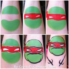 Ninja Turtle Cheek Art Face Painting