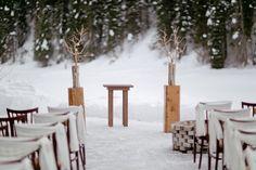 we ❤ this! moncheribridals.com #winterweddingaisle #winterwedding