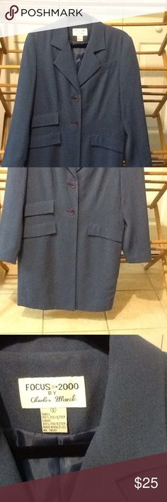 "Vintage Duster Coat Size 6 Sweet Size 6 blue longer style overcoat vintage lined. In good used condition. 2 buttons down front. Polyester. 34"" bust, 34"" waist, 34"" hips, 36"" long. Focus 2000 Jackets & Coats"