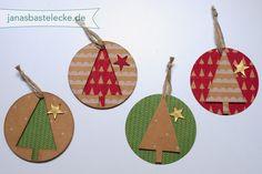 12 Tage Weihnachten 2014 - Geschenkanhänger Tannenbaum - mit Anleitungsvideo