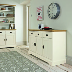 Rustic Two Tone Wide Sideboard - £325 | brandinteriors.co.uk