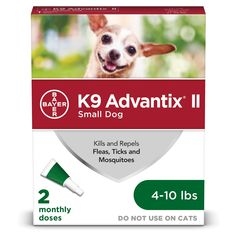 Advantix II Topical Small Dog Flea & Tick Treatment, Pack of 2 Rocky Mountain Spotted Fever, Pet Supermarket, Dog Items, Flea And Tick, Ticks, Fleas, Small Dogs, Your Dog