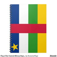 Flag of the Central African Republic Note Books