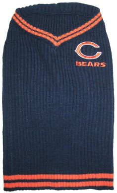 NFL Chicago Bears Pet Sweater, Medium ** You can find more details by visiting the image link. (This is an affiliate link and I receive a commission for the sales) Nfl Chicago Bears, Pet Dogs, Pets, Pet Fashion, Dog Sweaters, Pet Clothes, Holiday Fashion, Dog Care, I Love Cats