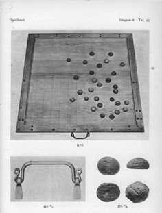 Gaming board and pieces from the Valsgarde grave.